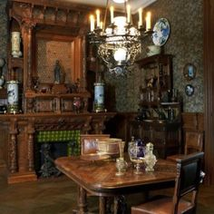 Decadent Victorian dining room