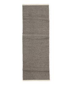 Teppich mit Jacquardmuster | Weiß/Anthrazit | Home | H&M DE