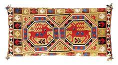 "Big woven ""röllakan"" cushion, 1819, 112 X 56 cm, Scania Sweden."