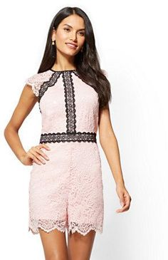 393e35428c6 Contrasting Lace Romper. New York And CompanyDresses ...