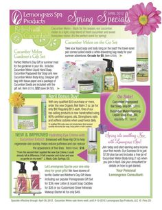 Spring Specials from Lemongrass Spa!