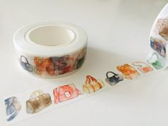 Watercolor Purses Washi Tape by GoatGirlMH on Etsy