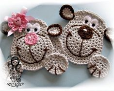 Crochet PATTERN Applique Little Bird DIY by NellagoldsCrocheting