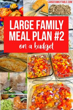Large Family Meal Plans on a Budget Week TWO!