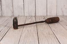 Antique Soldering Iron, Wooden Handle Soldering Iron, Handmade Soldering Iron, Industrial Garage Decor, Antique Copper Soldering Iron