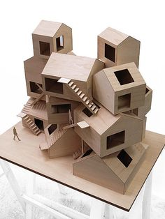 Tokyo aparment, Sou Fujimoto. Early concept model (reduced for the final building)