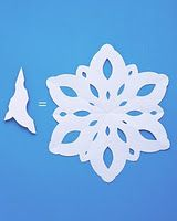 pretty and perfect paper snowflakes.