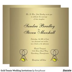Gold Tennis Wedding
