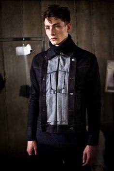 Maison Martin Margiela Menswear AW 2014 / denim jacket / #MIZUstyle