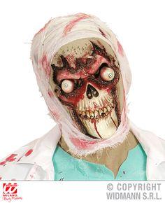 Angst aanjagend schedel zombie masker