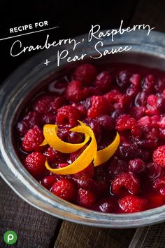 This cranberry sauce is everything you love, plus so much more. See how raspberries and pears make this Publix recipe one your family will love this Thanksgiving.