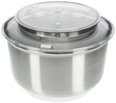 Bosch MUZ6ER2 Stainless Steel Bowl for Universal Plus by Bosch. $139.99. This bowl has a 5.5 qt capacity. Splash Ring and Lid included.. Does NOT include Whips, Whip Drive or Dough Hook. Intended to be used with the Bosch Universal Plus Mixer. (Cannot be used with older Universal models). Bosch%27s MUZ6ER2%2C 5%2E5 quart bowl makes the 800 watt Universal Plus mixer even more versatile%2E The Bosch stainless steel bowl has a center column%2C  comes with the lid and s...
