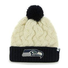 premium selection d0930 d8fed  47 Brand Seattle Seahawks Ladies Matterhorn Cuffed Beanie - Natural  Seahawks Fans, Seattle Seahawks