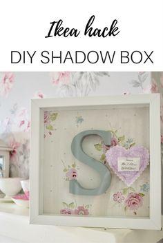 How to make a shadow box using ikea Ribba frame. Ikea hack, letter art, nursery decor,