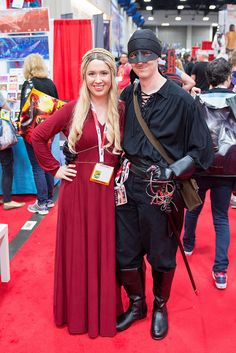The Princess Bride Movie Buttercup Costume Red Dress Riding Habit or Gown