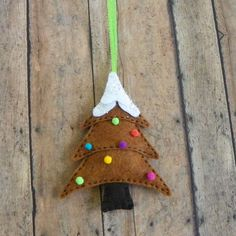 Felt Gingerbread Tree Christmas Tree Ornament by PaisleyMoose