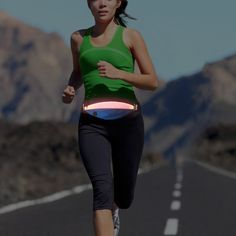 Bseen LED Waist Pack for Runners - USB Rechargeable Running Belt Fanny Pack Fit for iPhone 6/6S/Samsung Galaxy - with Earphone Hole - Waterproof Zipper - Sport Safety - the Best Runner Gifts -- A special product just for you. See it now! : Womens hiking backpack