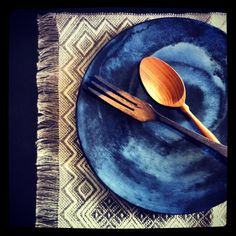Ink blue plate