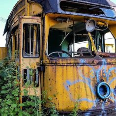 Abandoned - Yellow Vintage Trolley by SparklePyre