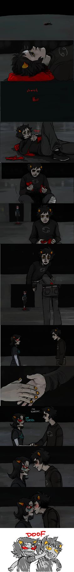 Tags: Anime, Almost Kiss, Homestuck, Terezi Pyrope, Karkat Vantas, Red Footwear