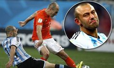 Javier Mascherano reveals he 'tore his a***' to tackle Arjen Robben Semi-Final 2014 World Cup Brazil