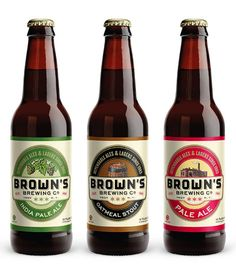 Brown's Brewing Bottles Designed by @id29