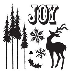 Sizzix Framelits Die Set 7PK w/Stamps - Holiday Joy $24.99