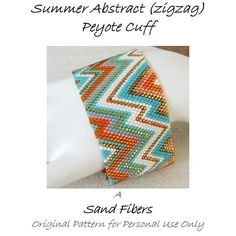 Hey, I found this really awesome Etsy listing at https://www.etsy.com/listing/62591652/peyote-pattern-summer-abstract-zigzag