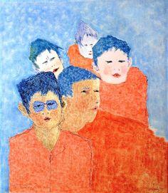 Bernardo CRESPIN : Sin titulo ; 1977 ; tinta y pastel sobre papel ; 37?5cm x 27.5cm ; colección MDAA (adquirido de la galería Humberto Saravia)