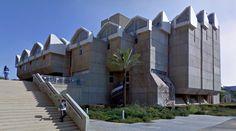 Zalman Aranne Central Library - 1971, by S.Nadler, M.Nadler, S.Bixon, M.Gil & S.Amitai - #architecture #googlestreetview #googlemaps #googlestreet #israel #beersheva #brutalism #modernism