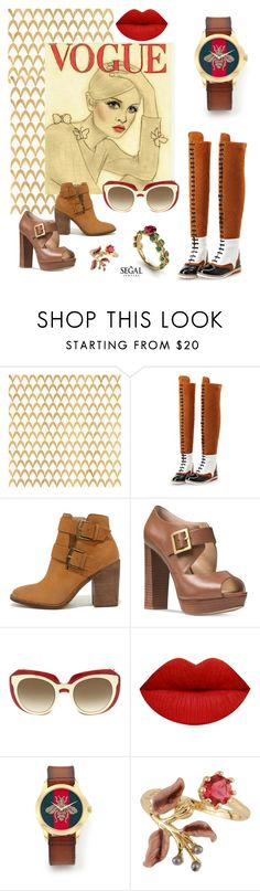 """""""vogue"""" by beanpod ❤ liked on Polyvore featuring Barclay Butera, Steve Madden, Michael Kors, Dolce&Gabbana, Gucci and Les Néréides"""