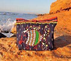Bolso playa grande pez bordado bolso playa shopper pez | Etsy Green Cotton, Cotton Lace, Big Handbags, Fish In A Bag, Anchor Print, Women Ties, Go Shopping, Online Shopping, Fish Print