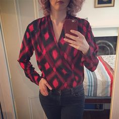 My very first blouse! Anderson Blouse by Sew Over It Sew Over It, Gillian Anderson, Pdf Sewing Patterns, Plaid, Glamour, Silk, My Style, Blouse, Clothes