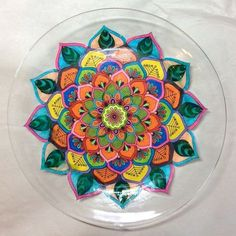 Oh my gosh this DIY Mandala plate by Hometalk is gorgeous!! What a clever way to use your mandala coloring pages when you are done with them!