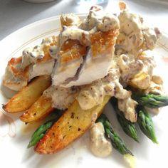 Asparagus Chicken Divan recipe