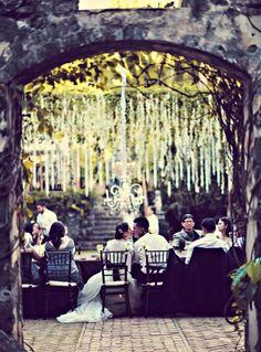 Enchanted outdoor reception