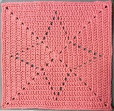 Filet crochet star