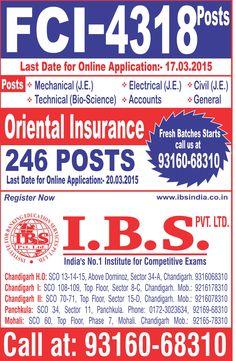 FCI Recruitment 2015  http://ssc-coaching-centre.blogspot.com/p/fci-coaching-in-chandigarh.html  http://ibsindia.co.in/ssc-coaching  http;//ibsindia.co.in/fci-coaching