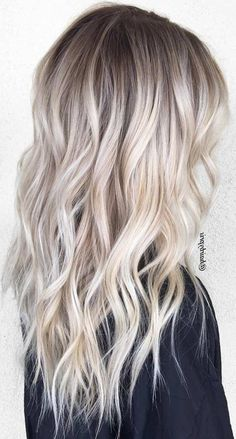 48 gorgeous platinum blonde hair colors for summer 2019 - latest hair color . - 48 beautiful platinum blonde hair colors for summer 2019 – Latest hair colors – 48 beautiful pl - Medium Ash Blonde Hair, Platinum Blonde Hair Color, Blonde Hair Looks, Blonde Wig, Ombre Hair Color, Platinum Blonde Balayage, Summer Blonde Hair, Blonde Hair With Dark Roots, Cool Blonde Balayage