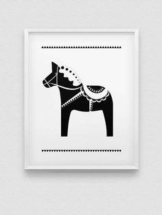 Minimalistsche zwart/wit Scandinavische print.
