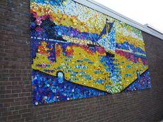 Over 40,000 bottle caps, middle school students artwork