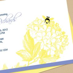 Flower and Bumble Bee Custom Baby Shower by DotsAndDahlias on Etsy, $18.00