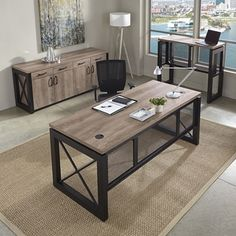 Urban Complete Office Suite - 14731 and more Lifetime Guarantee Office Table Design, Office Furniture Design, Office Decor, Metal Furniture, Home Furniture, Office Suite, Home Decor, Office Supplies, House