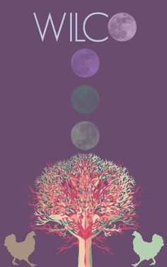 Wilco concert poster.