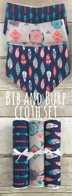 Baby Girl Boho Baby Shower Gift Set, Boho Drool Bibs, Boho Burp Cloths, Boho Baby Gift, Boho Bib and Burp Cloth Set, Newborn Baby Girl Gift #ad #affiliatelink
