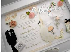 Wedding Invitation Keepsake By Quilling Sandra White My Invitations Pinterest And
