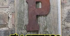 Thick Metal letters - Now get smaller letters in thick metal. Great for attaching to a substrate to spell out anything you want! Letters are about the thickness of a nickel. Holes are through the metal and Nails... #makeyourownsigns #metalletters #rustyletters #signletters #smallletters #tinletters