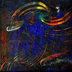 """Barbara Straessle, """"Galaxie im roten Licht"""" (20) With a click on 'Send as art card', you can send this art work to your friends - for free!"""