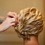 Great Mid Length Wedding Hairstyle