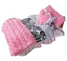 american girl doll bedding - pink